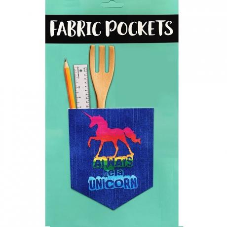2 ways Fabric Pockets, Iron-on or Stick on